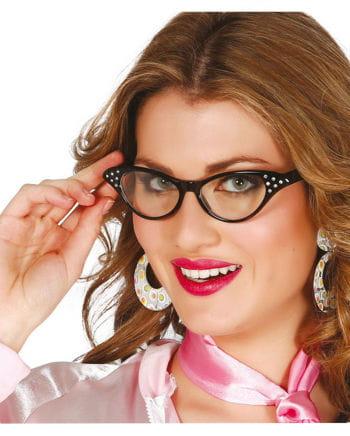 Glasses 50s retro look black