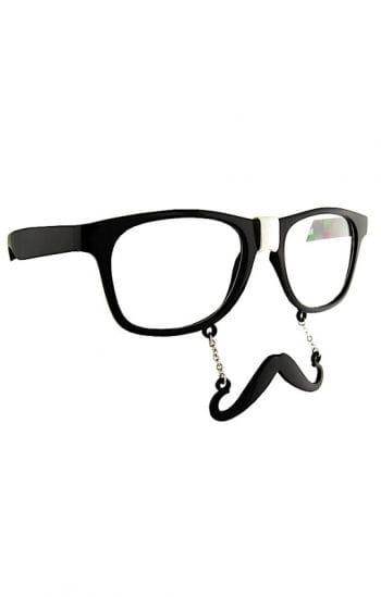 Hipsterbart mit Brille
