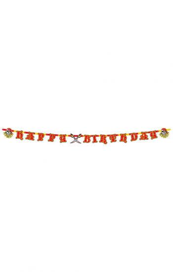 Red Pirate Birthday Garland
