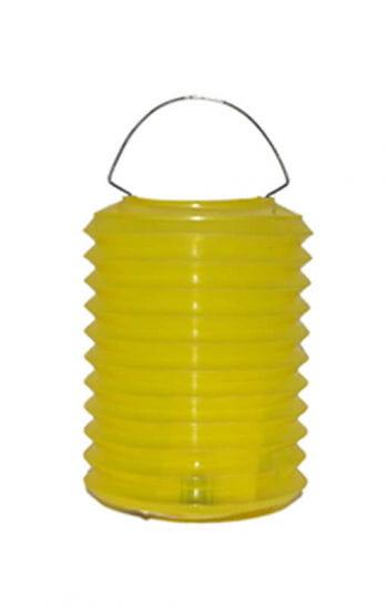 Bunte Lampions aus Kunststoff gelb