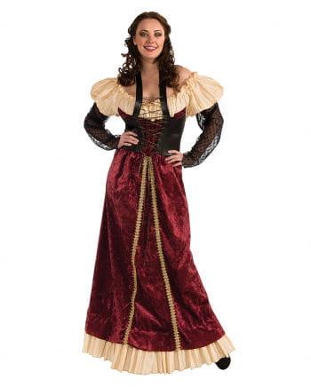 Rotes Burgfräulein Kostüm Plus Size