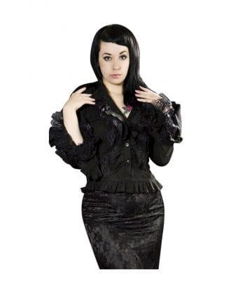 Burleska frilly blouse black