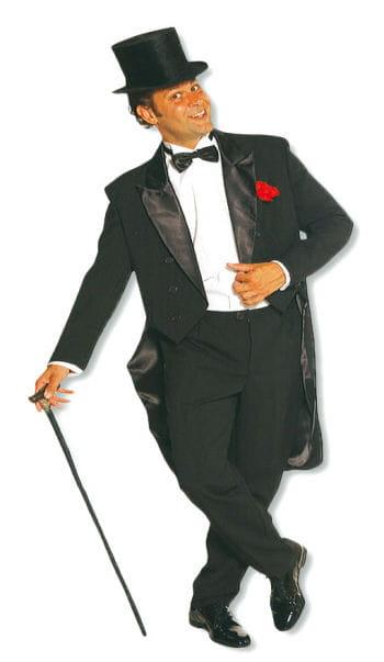 Schwarzer Anzug mit Frack XL