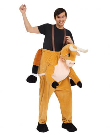 Reiter auf Büffel Huckepack Kostüm