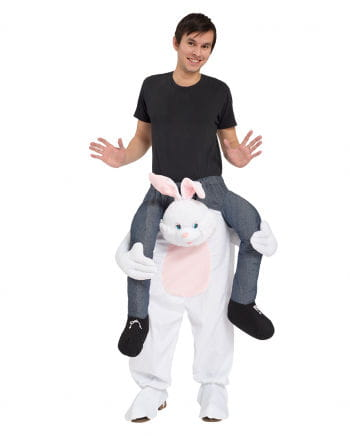 Weißer Hase Huckepack Kostüm