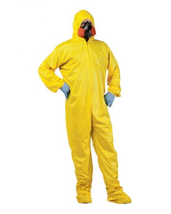 Chemistry teacher jumpsuit with breathing mask