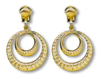 Clip Ohrringe goldene Creolen