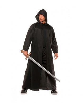 Kostüm Mantel mit Kapuze schwarz