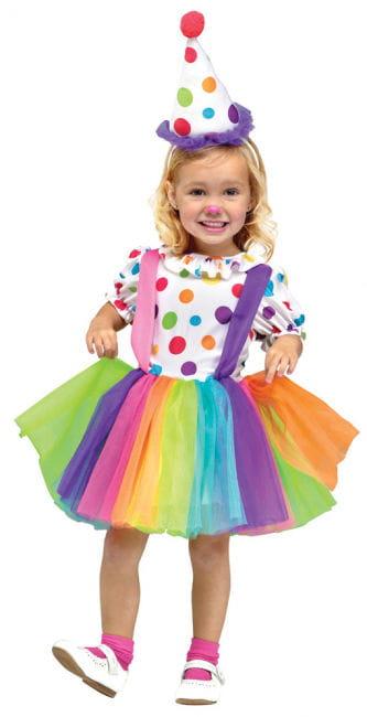 Clown costume for girls