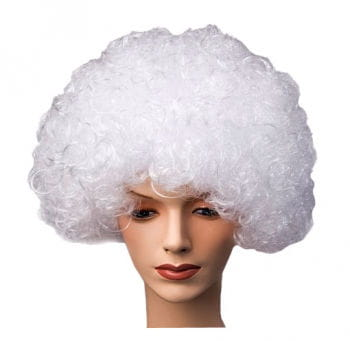 Curly Clown Wig White