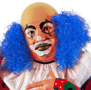Clown Wig with Blue Hair