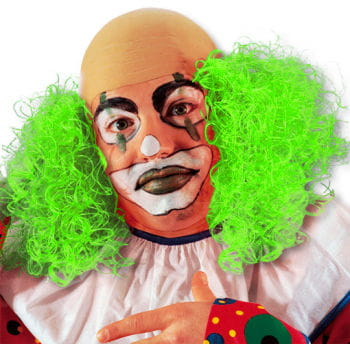 Clown Wig with Green Hair