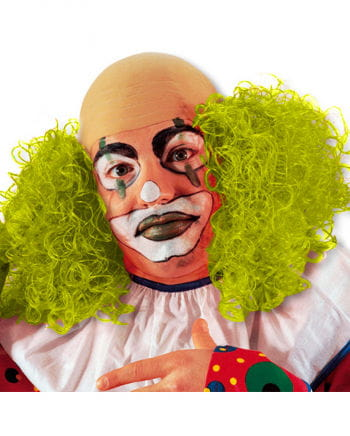 Clown wig Neon Yellow balding