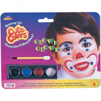 Clown make-up for children