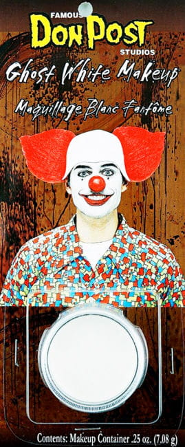 Clown Schminke weiß
