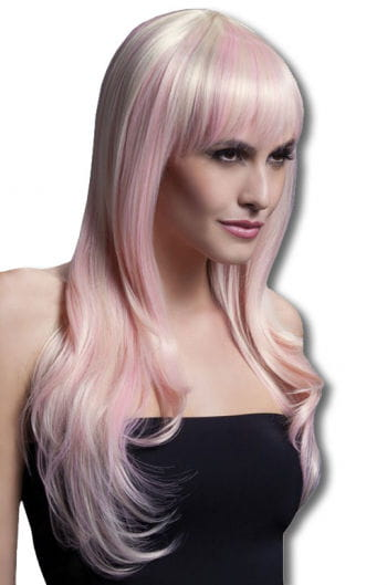 Sienna Damen Perücke blond pink
