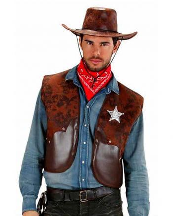 Cowboy Weste braun XL