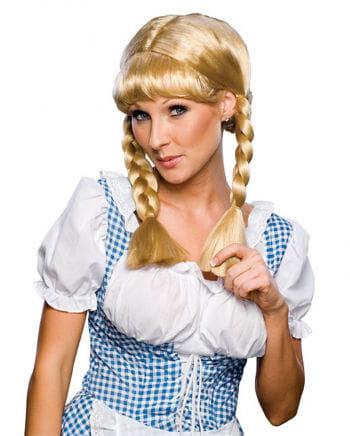 Cowgirl Zopfperücke blond