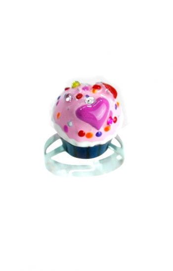 Törtchen Ring Blau Rosa