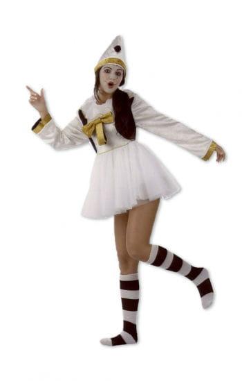 Damen Weißclown-Kostüm dreiteilig