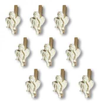 Angel Christmas Card Pegs 9 PCS