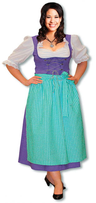 Dirndl Costume Purple Plus Size