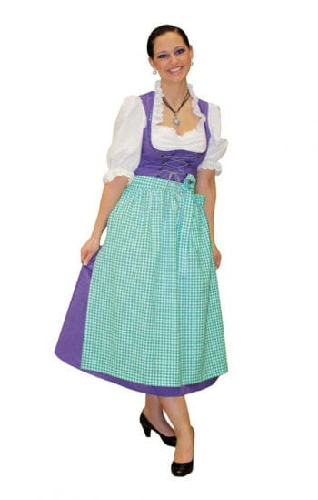 Dirndl costume purple