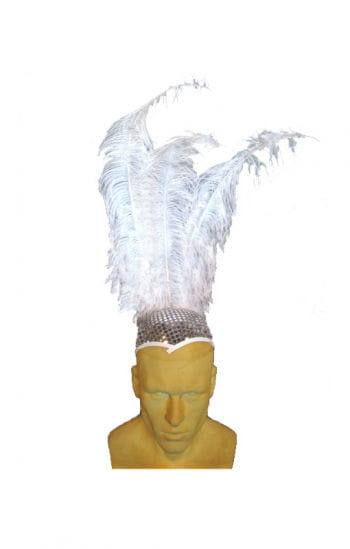 Disco hat with feathers