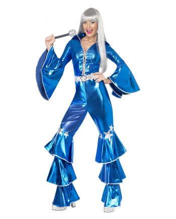70er Jahre Dancing Queen Kostüm blau