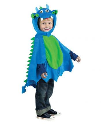Drachen-Cape mit Mütze blau-grün