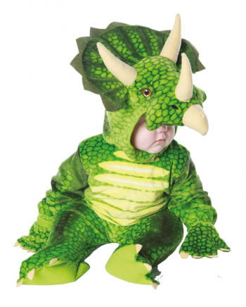 Three Horn Dino Child Costume Green S