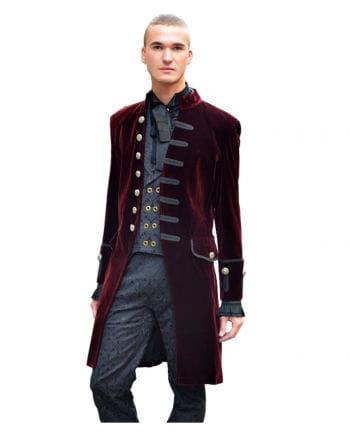 Men velvet frock coat