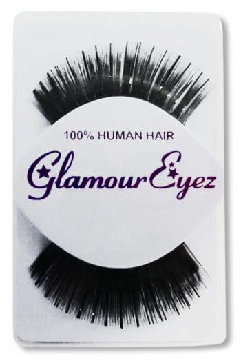 Human Hair Eyelashes Black Shiny