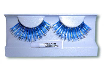 Real Hair Lashes Blue/Gold