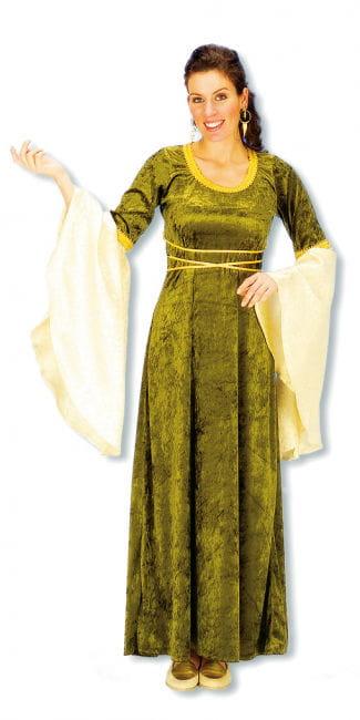 Burgfräulein Kostüm grün gold