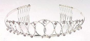 Elegant rhinestone tiara Diana