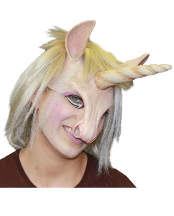 Unicorn mask with hair