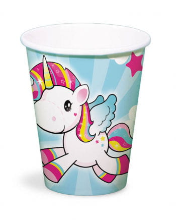 Unicorn Pappbecher 8 St.
