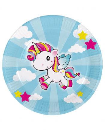 Unicorn Pappteller 8 St.