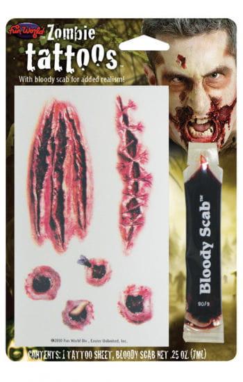 Zombie gunshot wounds Tattoo