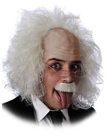 Einstein Professor Perücke mit Brille