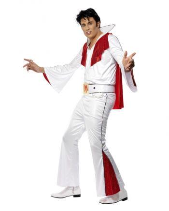 Elvis Kostüm Lizenz Weiß Rot