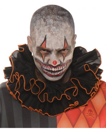 Evil Clown ruffled collar