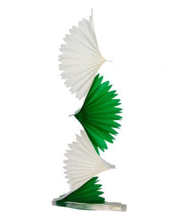 Grün-weiße Fächer Girlande 3 m