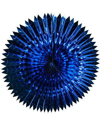 Blauer Faltfächer Metallfolie 60cm