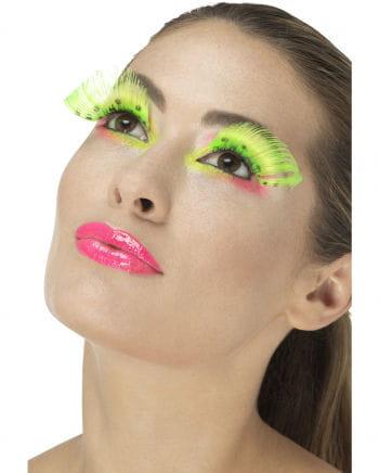 Gepunktete Federwimpern Neongrün