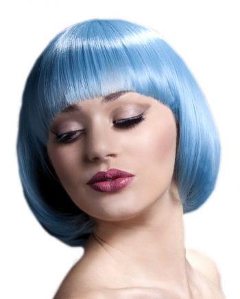 Mia Damen Perücke pastellblau