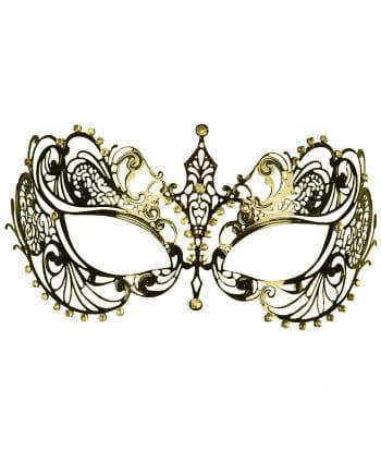 Metall-Augenmaske mit Strass gold
