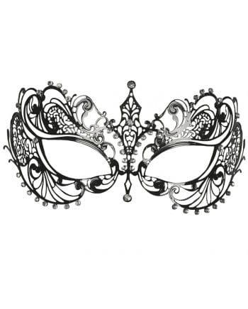 Metall-Augenmaske mit Strass silber