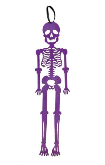 Hänge-Skelett aus violettem Filz